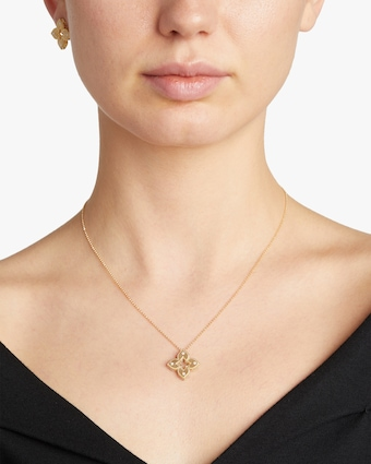 Yellow Gold Venetian Pendant Necklace