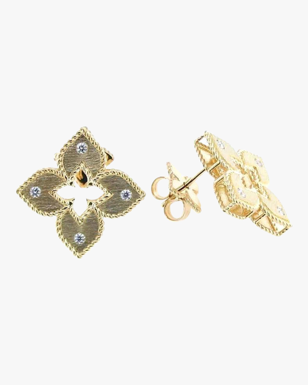 Yellow Gold Venetian Stud Earrings