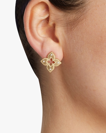 Yellow Gold Venetian Stud Earrings