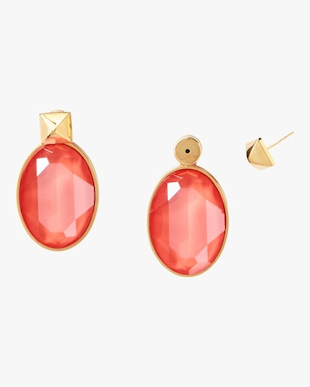 Oval Drop Earrings