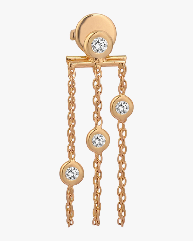 Single Three-Chains Dangle Earring