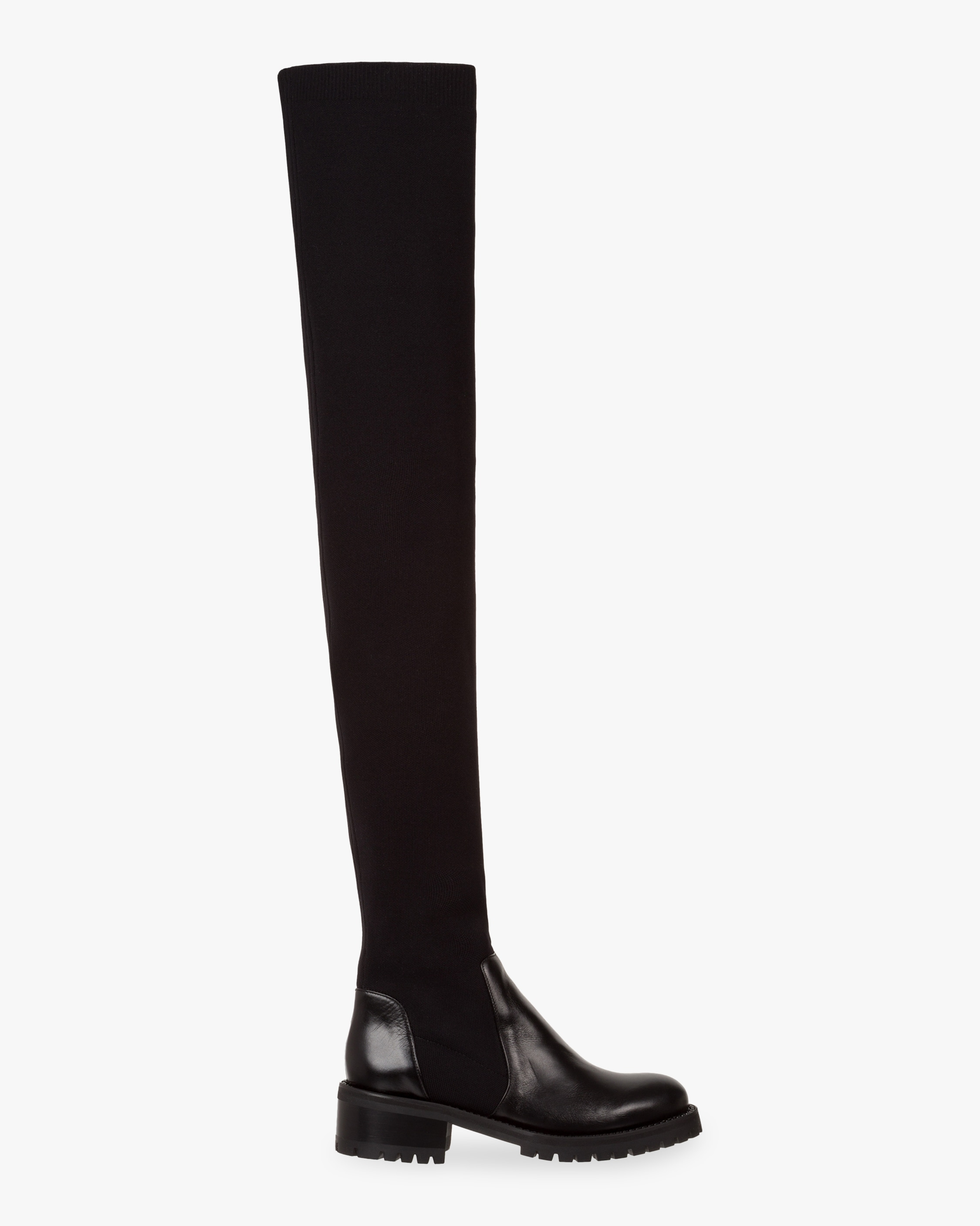Dorothee Schumacher Smooth Attraction Sock Boot In Pure Black