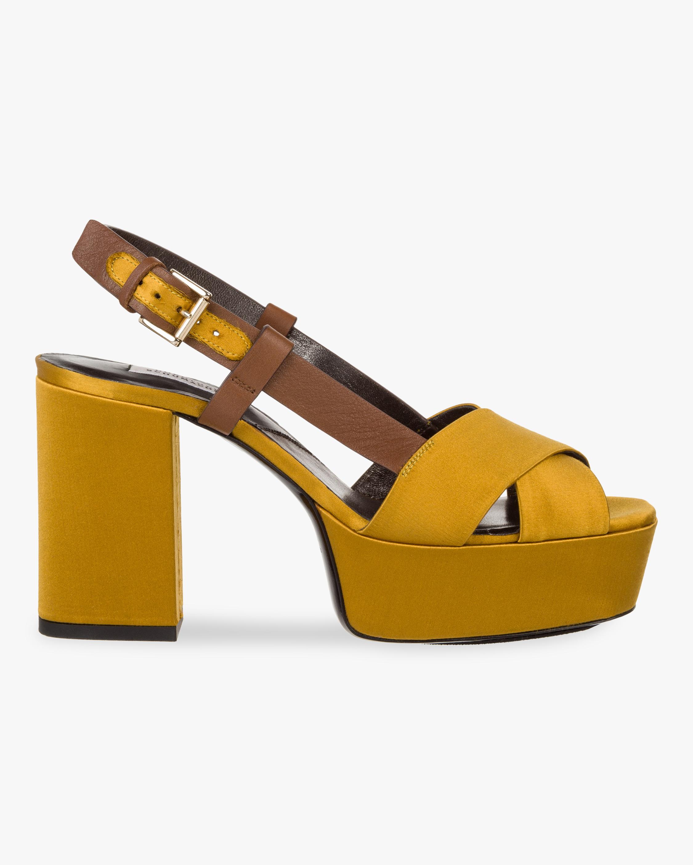 Shiny Perfection Platform Sandal