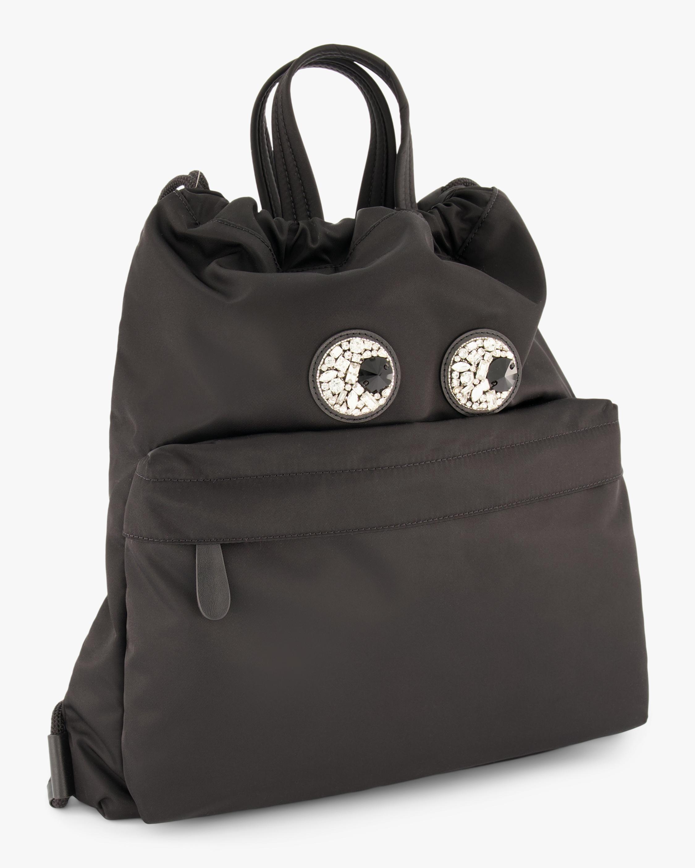 Crystal-Eyes Drawstring Backpack