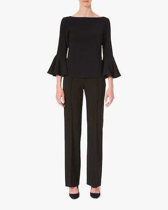Carolina Herrera Bell-Sleeve Blouse 1