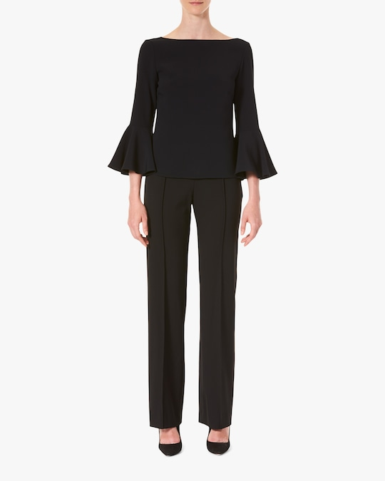 Carolina Herrera Bell-Sleeve Blouse 0