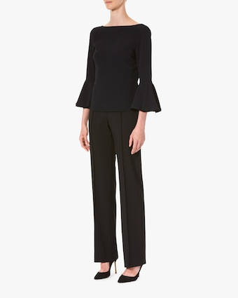Carolina Herrera Bell-Sleeve Blouse 2