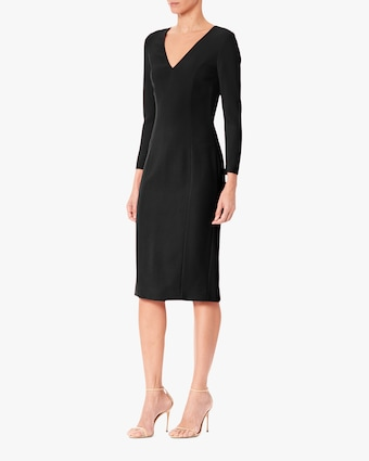 Carolina Herrera V Neck Sheath Dress 2
