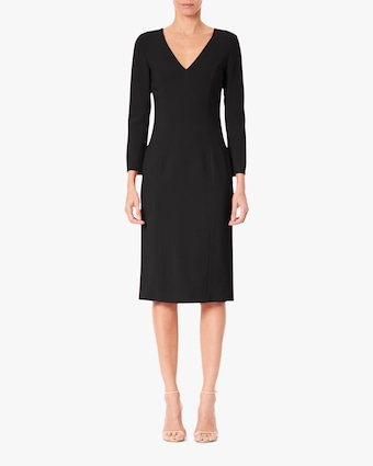 Carolina Herrera V Neck Sheath Dress 1