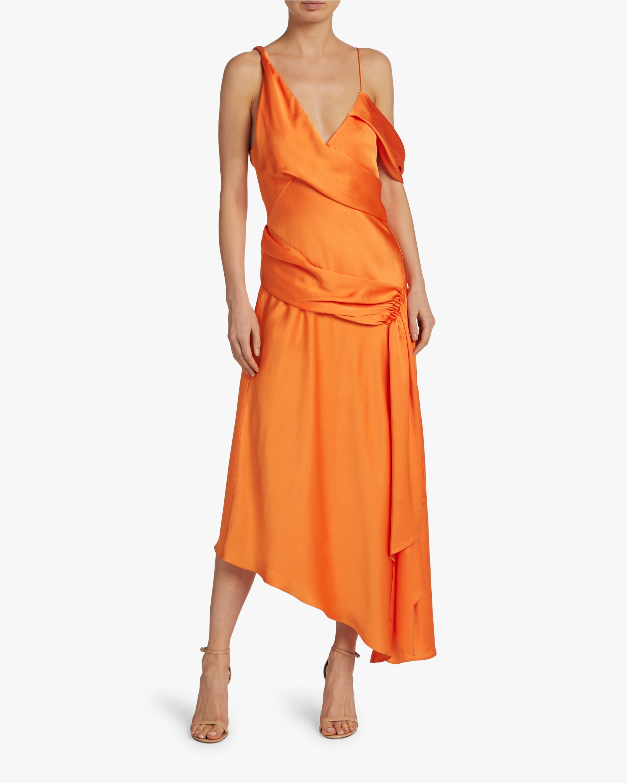Asymmetric Drape Gown