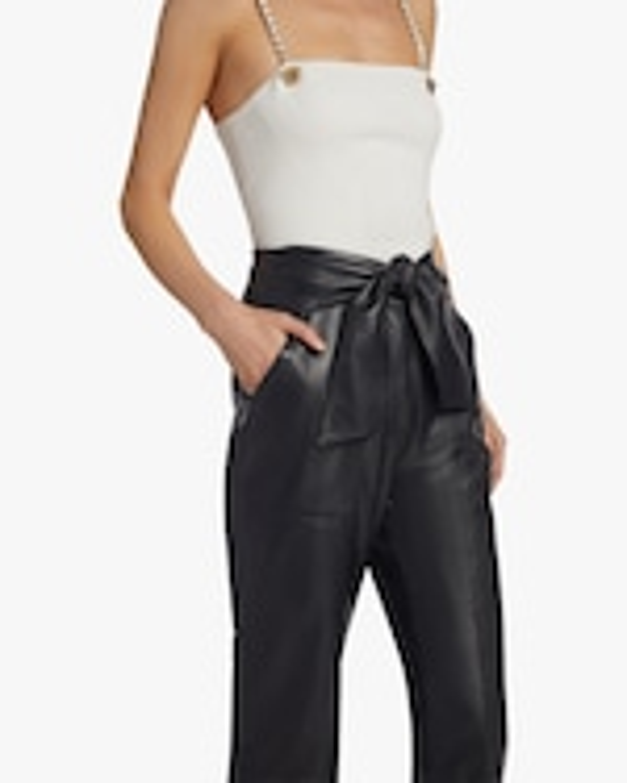 Jonathan Simkhai Faux Leather Tie-Waist Pants 3