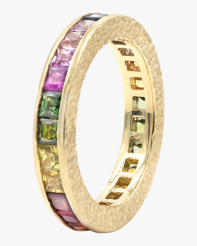 Rainbow Ivory Eternity Band