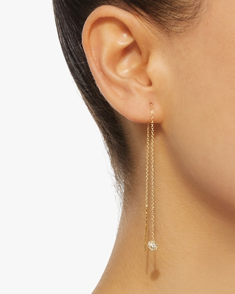 Diamond Nesting Threader Earrings