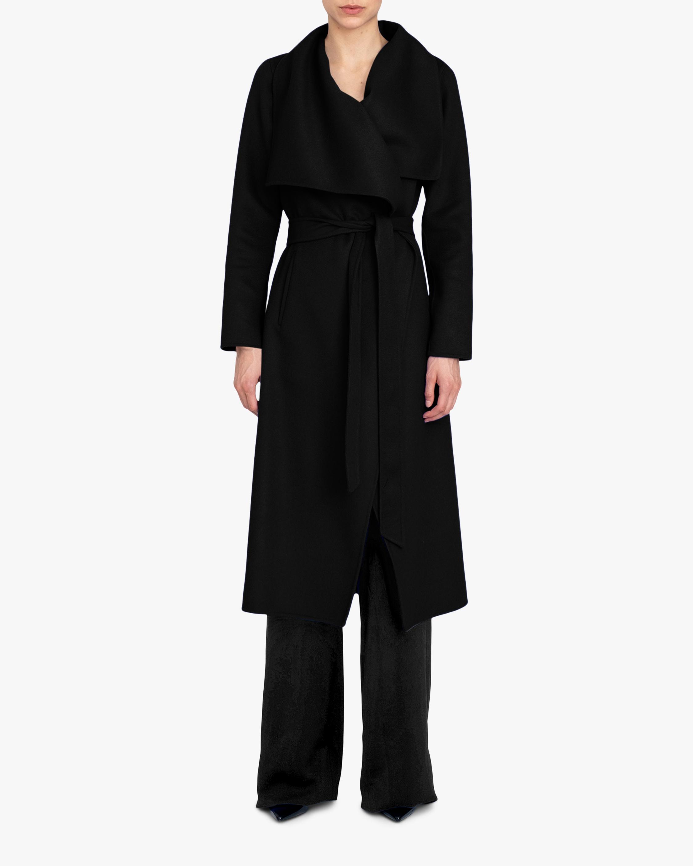 Cashmere-Blend Wrap Coat