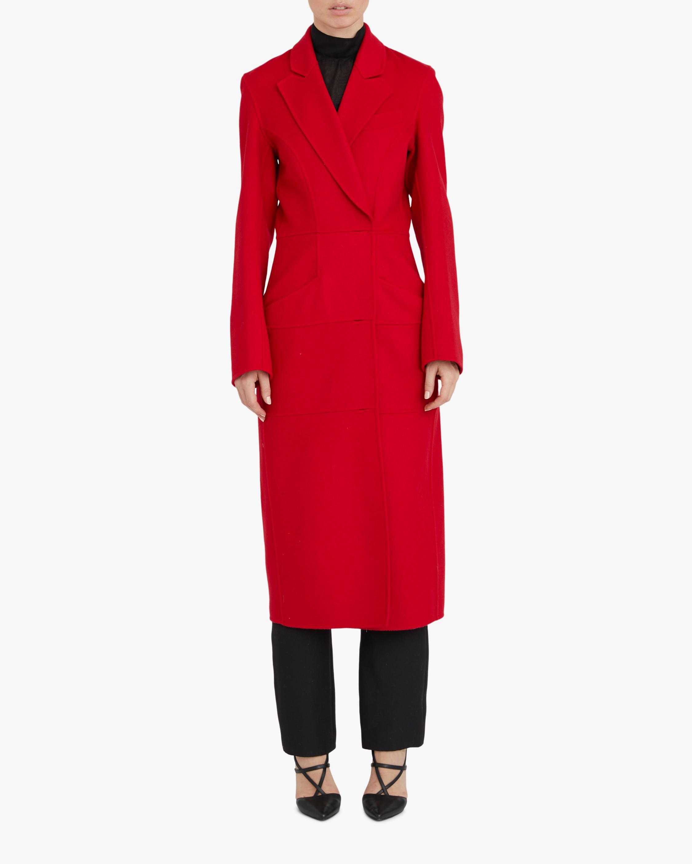 Paneled Cashmere-Blend Coat