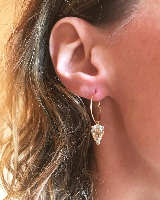 Nayestones Singular Round Bloom Earring 1