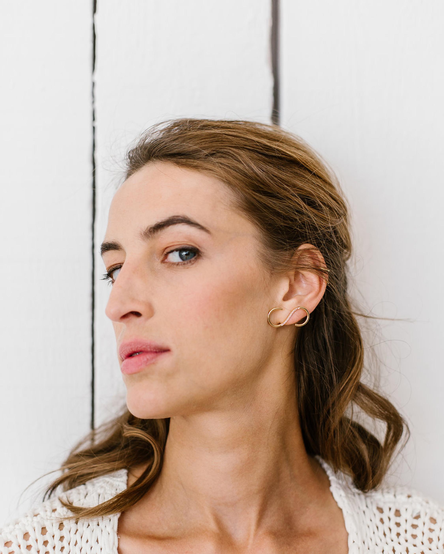 Nayestones Singular Pink Sapphire Signature Earring 2