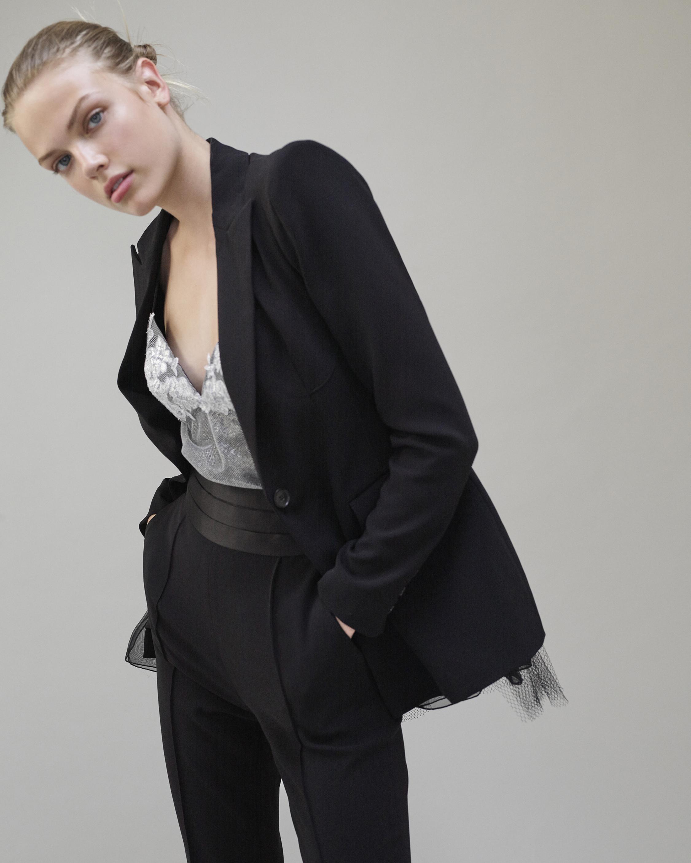Judy Zhang Bustle Blazer Jacket 1