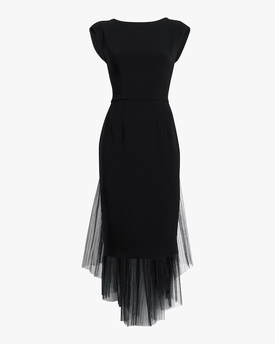Judy Zhang Sleeveless Sheer-Overlay Dress 0