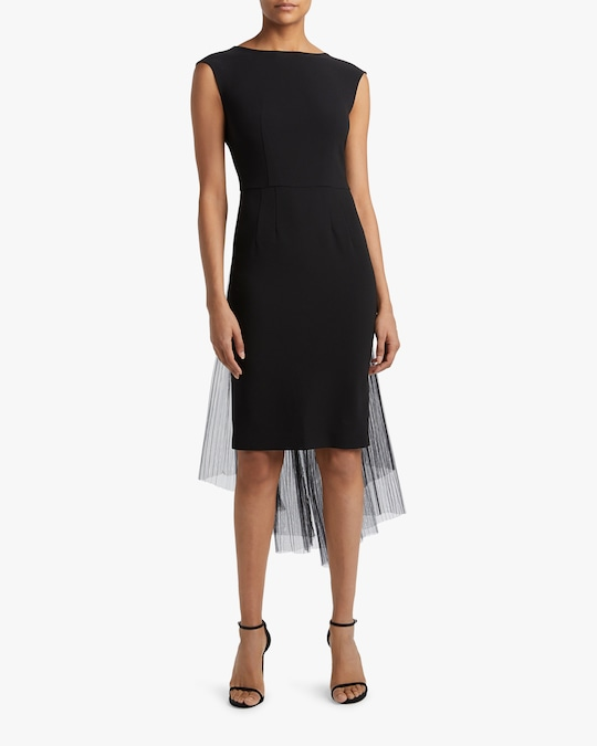 Judy Zhang Sleeveless Sheer-Overlay Dress 1