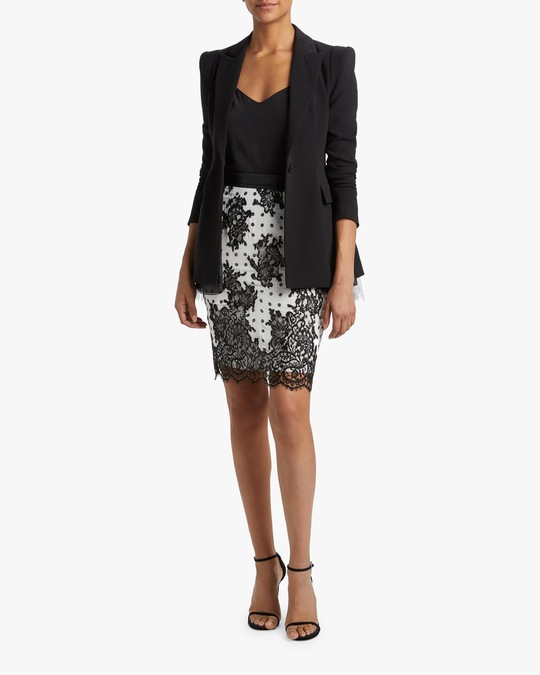 Judy Zhang Lace Pencil Skirt 1