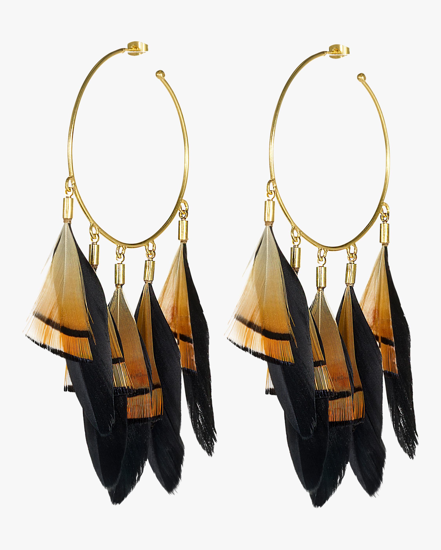 Thoth's Hoop Earrings