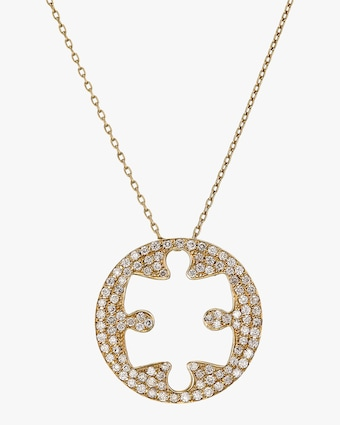 Jigsaw Puzzle Outer Pendant Necklace