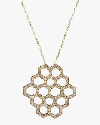 Honeycomb Pendant Necklace