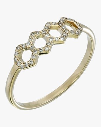 Ankha Honeycomb Ring 1