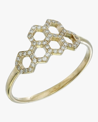 Ankha Large Honeycomb Ring 1
