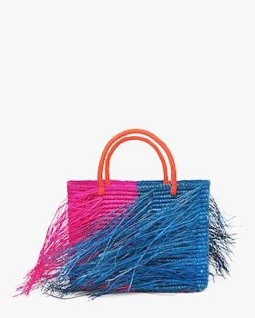 Triple Color-Block Consara Fringe Bag