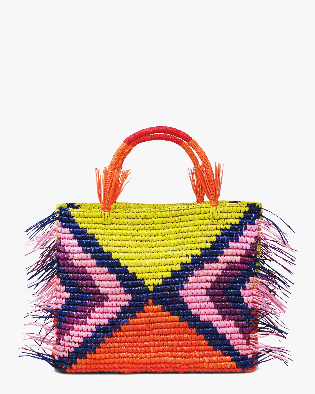 Maxi Rhombus Canasta Fringe Bag
