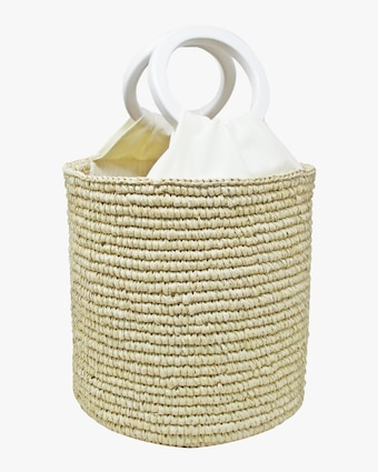 Medium Bamboo-Handle Bucket Bag
