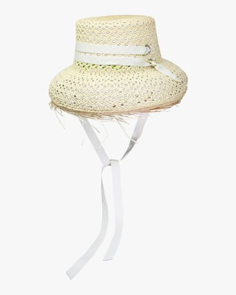 Frayed-Brim Lamp Shade Hat