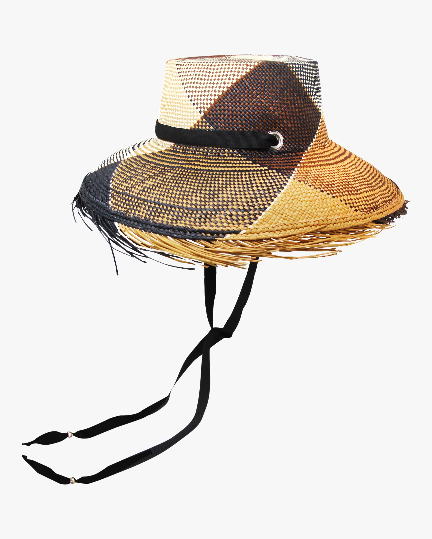 Frayed-Brim Lamp Shade Hat