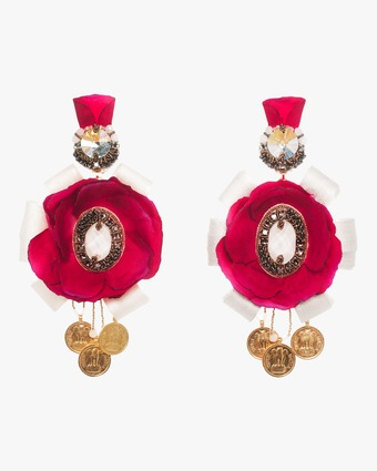Ranjana Khan Rosella Clip-On Earrings 1