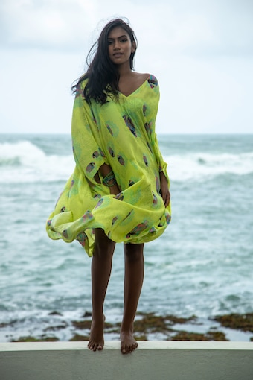 Hand-Beaded Kaftan Dress