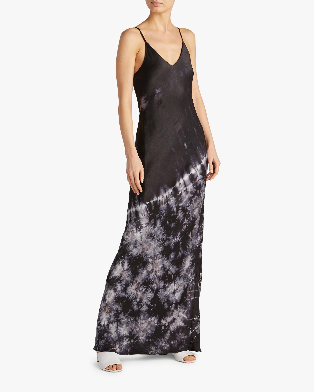 Tie-Dye Bias Midi Dress