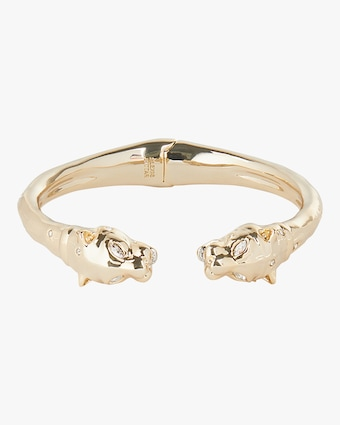 Face-to-Face Panther Hinge Bracelet