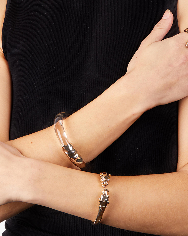 Alexis Bittar Face-to-Face Panther Hinge Bracelet 1