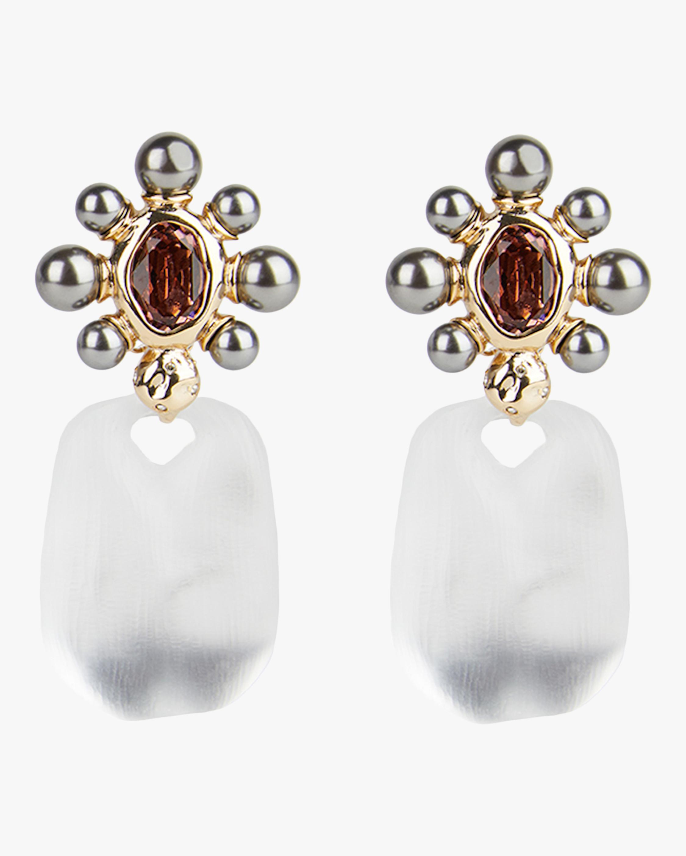 Byzantine Pearl Floret Clip-On Earrings