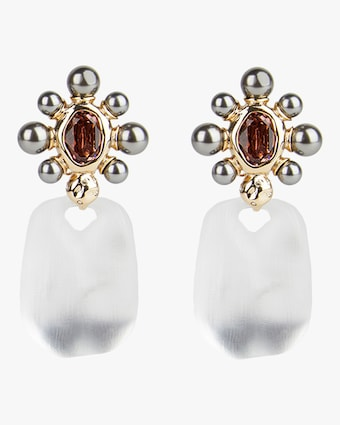 Byzantine Pearl Floret Clip-On Earrings