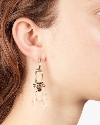 Link Hinged Post Earrings
