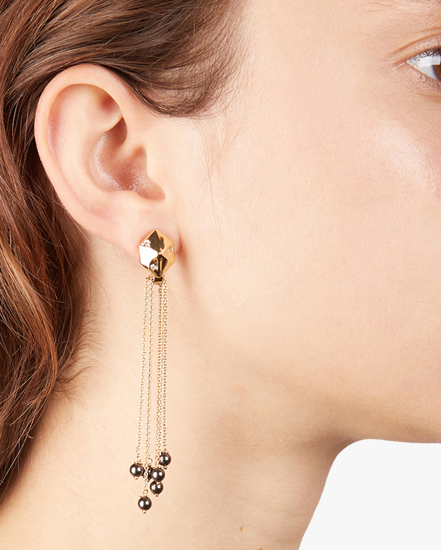Fringe Hexagon Drop Earrings