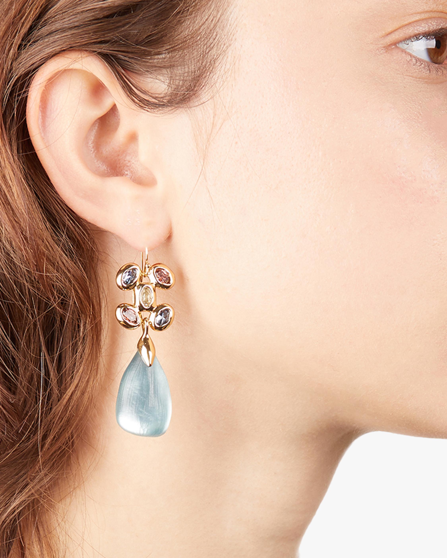 Byzantine Stone Cluster Drop Earrings