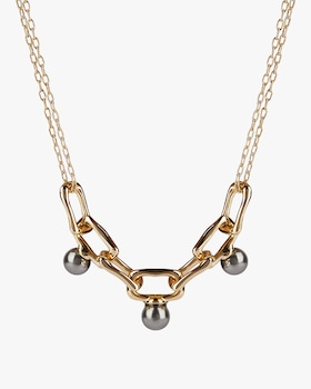 Studded Chain-Link Necklace