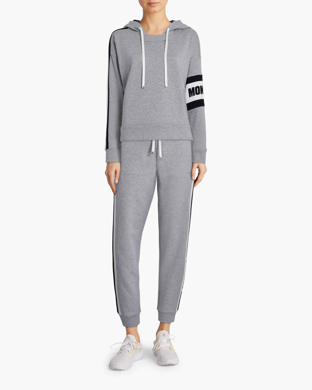 Stripe-Sleeve Crewneck Sweater