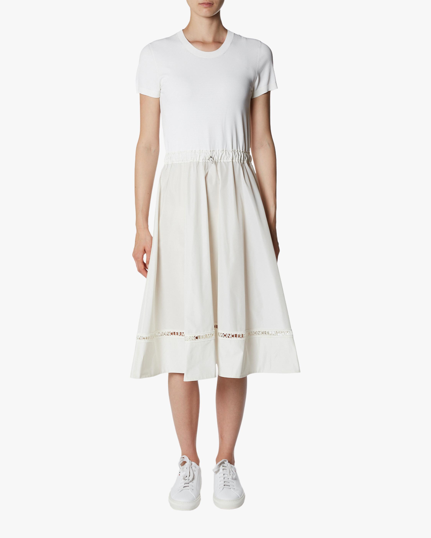 Drawstring-Waist A-Line Dress