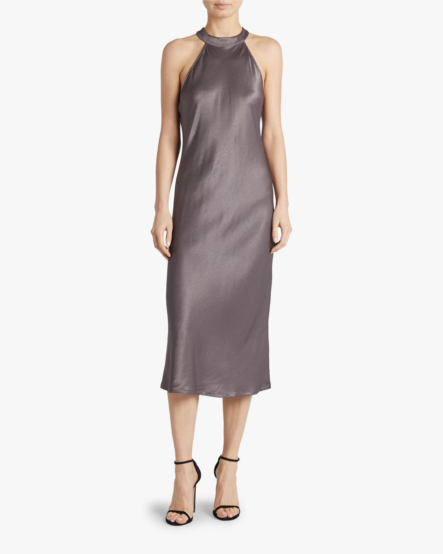 Krisa Bias Halter Dress 1