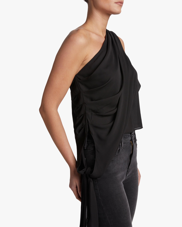 Krisa One Shoulder Tie-Waist Top 3